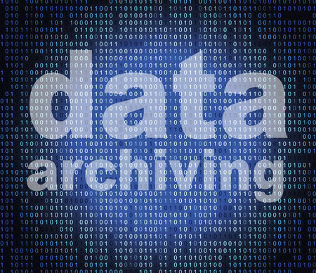 archiving: Data Archiving Showing Information Backup And Bytes