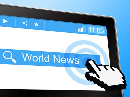 world news: World News Representing Globe Article And Globalization Stock Photo