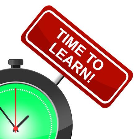 lernte: Zeit zu lernen, Bedeutung Informieren erlernt und Studium Lizenzfreie Bilder