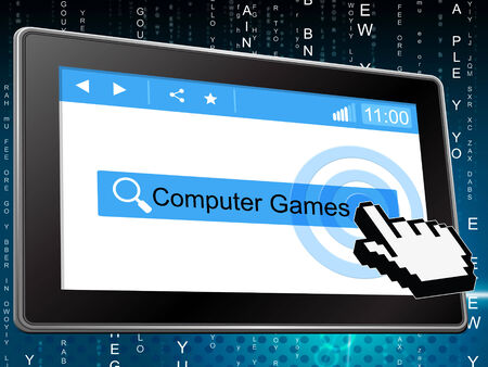 computer games: Computer Games Showing World Wide Web And Play Time