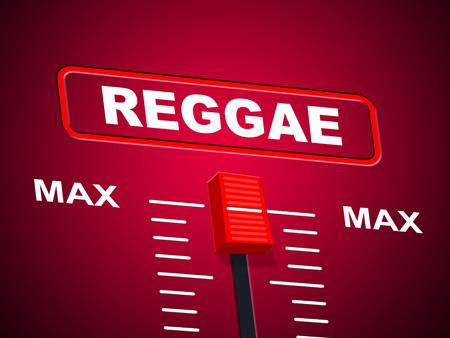 utmost: Reggae Music Indicating Upper Limit And Peak