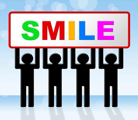 amabilidad: Alegr�a sonriente Indicando feliz Amabilidad y Cara Foto de archivo