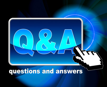 Q And A Representing World Wide Web And Website Standard-Bild