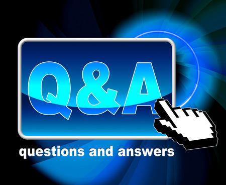 Q & A を表す World Wide Web やウェブサイト 写真素材
