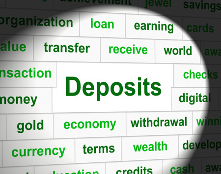 deposits: Deposits Finance Meaning Down Payment And Profit Stock Photo
