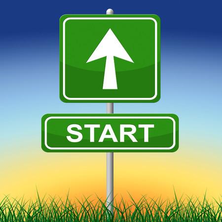 comenzar: Iniciar sesi�n Indicando hacerlo y Begin