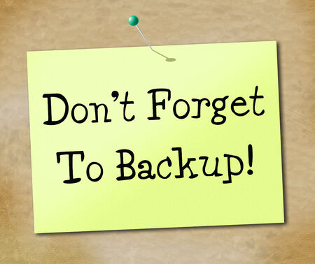 data archiving: Data Backup Indicating Information Archives And Document