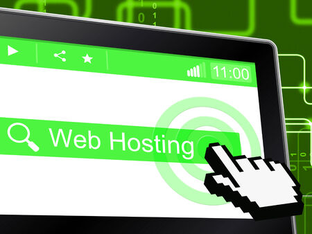 Web Hosting Representing Net Internet And Server photo