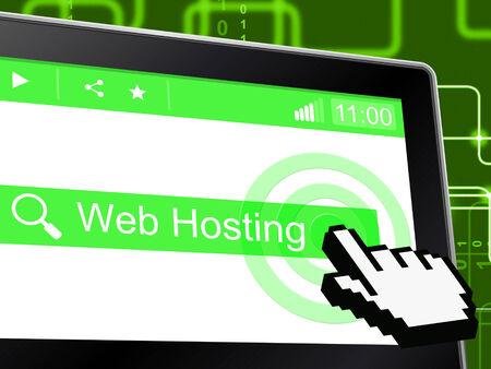 webhosting: Web Hosting Representing Net Internet And Server