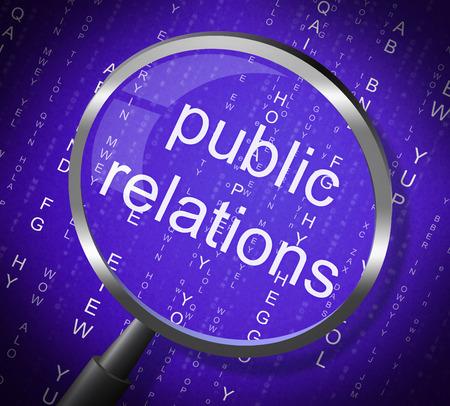 relations publiques: Relations publiques Affichage communiqu� de presse et la recherche Banque d'images