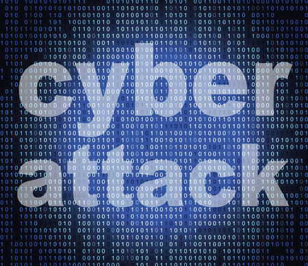 unlawful act: Cyber Attack Showing World Wide Web And Unlawful Act Stock Photo