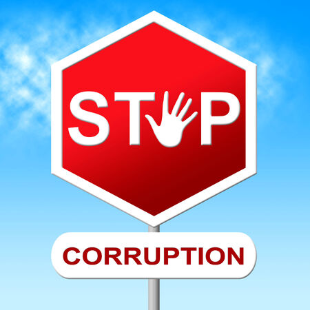 misconduct: Stop Corruption Showing Warning Sign And No