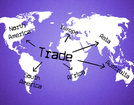 globally: Trade Worldwide Meaning Global Importing And Globally
