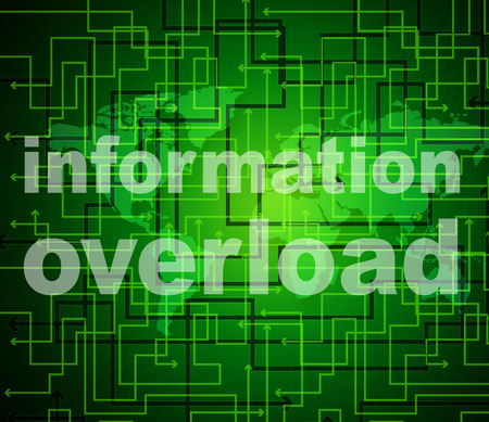 burdened: Overload Information Meaning Faq Advisor And Knowledge Stock Photo