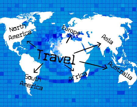 travelled: Travel Worldwide Indicating Globally Travelled And Touring