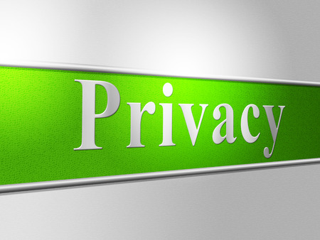 confidentially: Privacy Secret Representing Advertisement Sign And Message Stock Photo