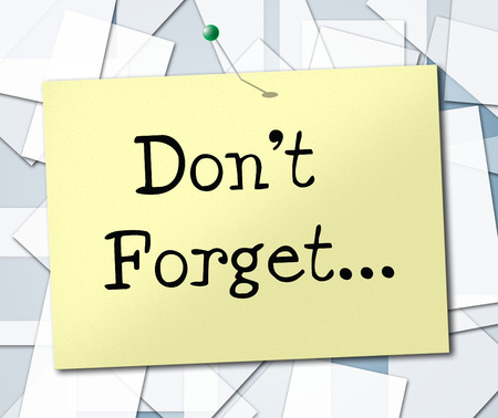 przypominać: Nie zapomnij Reprezentowanie warto pamiętać i przypominać Przypomnienie Zdjęcie Seryjne