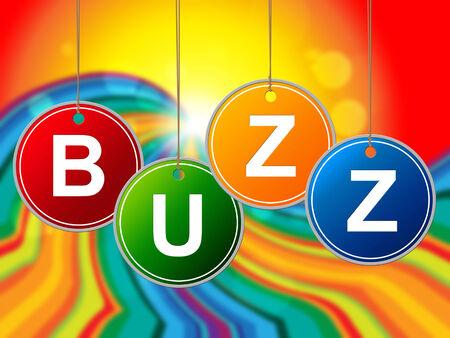 relations publiques: Buzz Internet Indiquant World Wide Web et les relations publiques