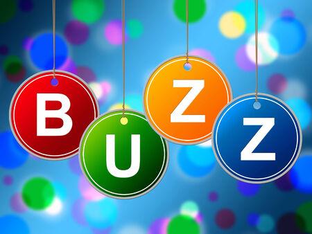 relations publiques: Buzz Internet Repr�sentant World Wide Web et les relations publiques Banque d'images
