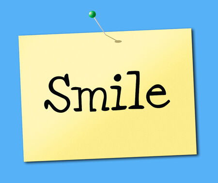positivity: Sign Smile Representing Positive Positivity And Display