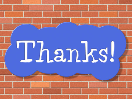 gratefulness: Reg�strate Gracias Indicando Gratitud Display Y Letrero Foto de archivo