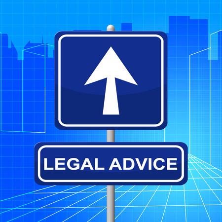 asesoria legal: Aviso Legal Representando Cartel Crimen y Litigios Foto de archivo