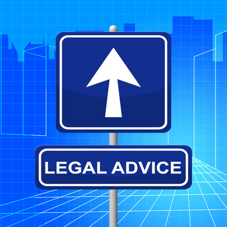lawfulness: Legal Advice Representing Placard Crime And Litigation Stock Photo