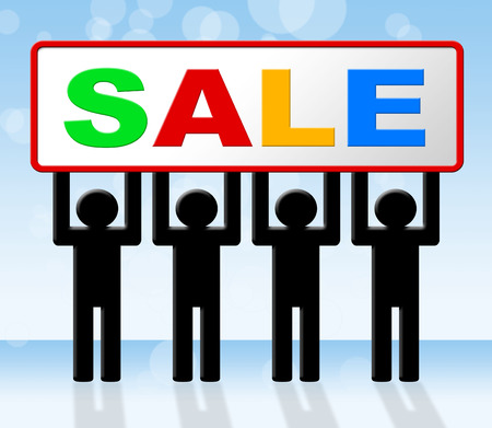 closeout: Discount Sale Indicating Sales Reduction And Closeout Stock Photo