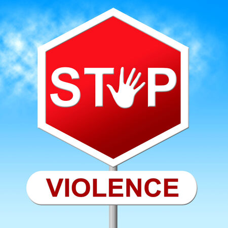 savagery: Stop Violence Meaning Brutishness. Violent And Forbidden