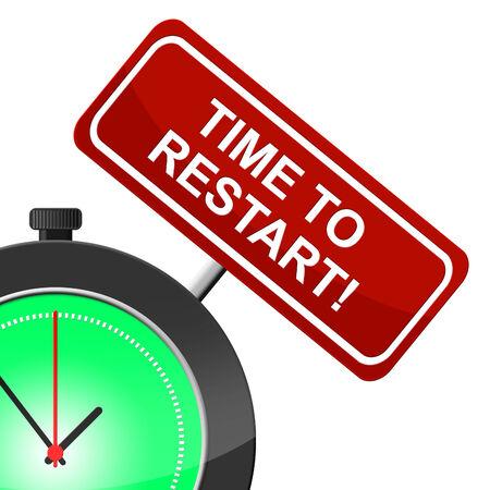 empezar: Tiempo para reiniciar Significado Begin Over y volver a abrir