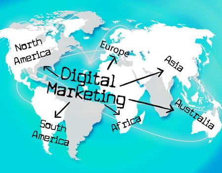 tec: Digital Marketing Representing High Tec And Technology