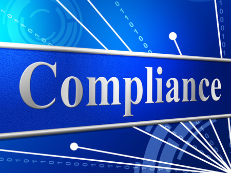 conform: Agreement Compliance Meaning Obedience Conform And Consent Stock Photo