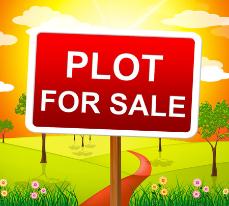 hectares: Plot For Sale Showing Real Estate Agent And Property