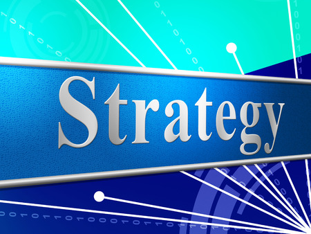 business strategy: Business Strategy Representing Commercial Planning And Strategic
