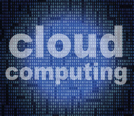 network server: Cloud Computing Representing Network Server And Internet Stock Photo