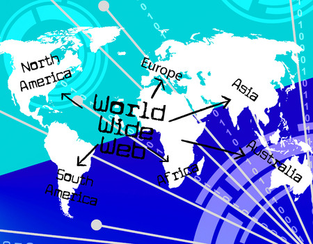 globally: World Wide Web Representing Internet Online And Globally Stock Photo