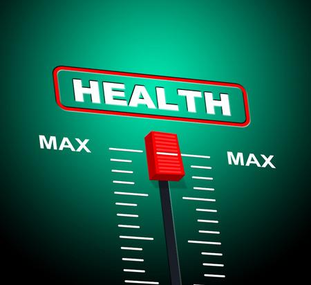 preventive medicine: Health Max Meaning Preventive Medicine And Extremity Stock Photo