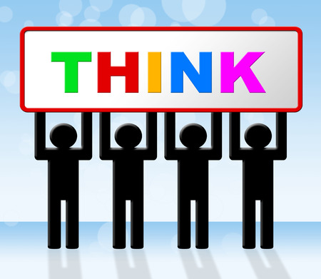 consideration: Thinking Think Showing Consideration Contemplation And Contemplating