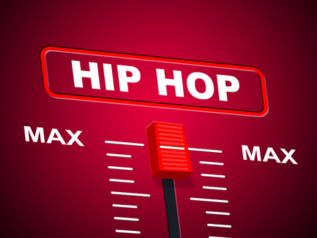 Hip Hop Music Indicating Sound Track And Equalizers photo