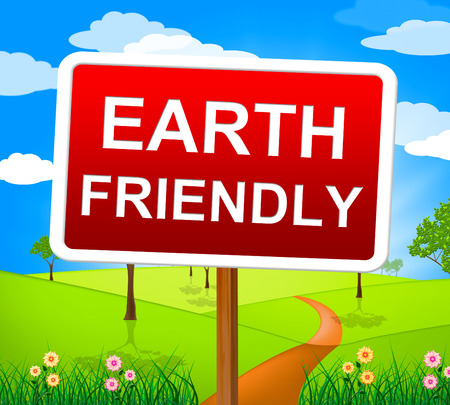 reciclable: Earth Friendly En representaci�n de los Ecosistemas Naturales y reciclable