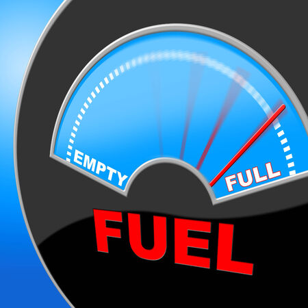 petrol powered: Fuel Full Representing Gauge Powered And Gasoline