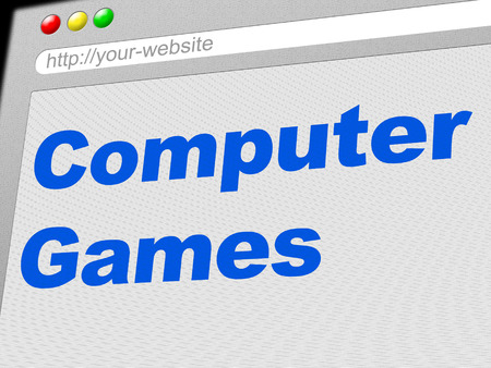 computer games: Computer Games Showing Www Web And Gamer Stock Photo