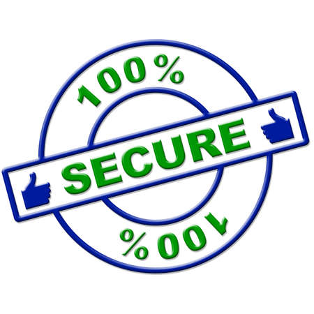 completely: Hundred Percent Secure Meaning Completely Unauthorized And Encrypt Stock Photo