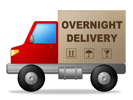 hrs: Overnight Delivery Representing Next Day And Hrs Stock Photo