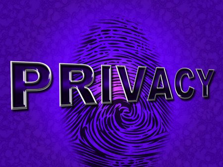 confidentially: Privacy Fingerprint Showing Private Restricted And Confidentially