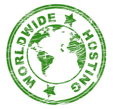 webhost: Worldwide Hosting Showing Globalisation Web And Earth