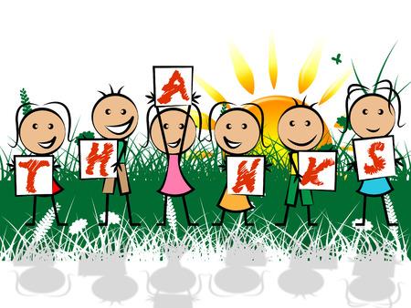 agradecimiento: Niños Gracias Significado Grateful Usted y agradecimiento