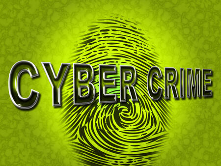 cyber crime: Cyber Crime Representing Threat Vulnerable And Fingerprint