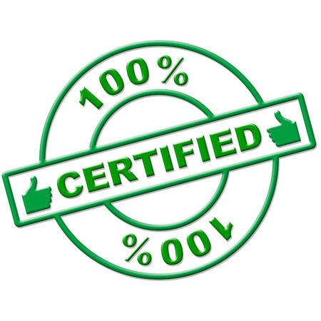 verify: Hundred Percent Significato certificato di autenticazione Verificare e sostenere Archivio Fotografico