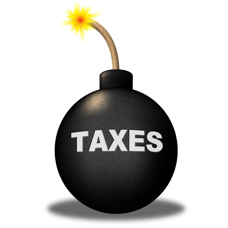 excise: Taxes Alert Meaning Excise Bomb And Caution